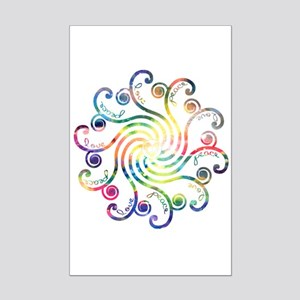 Cosmic Peace Love Mini Poster Print